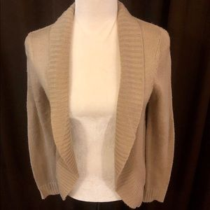 <Forever 21> Tan Open Front Knit Cardigan
